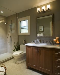 Sarah Richardson Bathrooms | Modern Bathroom with light brown cabinets! Pix Please! - Bathrooms ...
