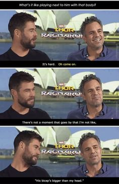 Thor Mark Ruffalo in Thor Ragnarok #biceps