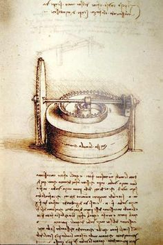 Leonardo da Vinci - Spring Driven Power Source, study