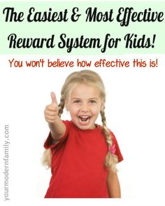 Easiest, most effective reward system!  Do this in your house TODAY!
