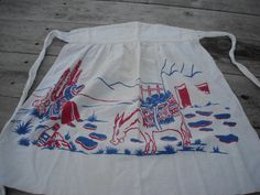 Vintage Burro and Cart Apron by ContemporaryVintage on Etsy, $15.00