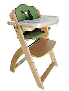 Beyond Junior Y Wooden Baby High Chair (Natural) by Abiie