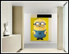 Minion Wall Decor roommates rmk2081gm despicable me 2 minions giant peel and stick