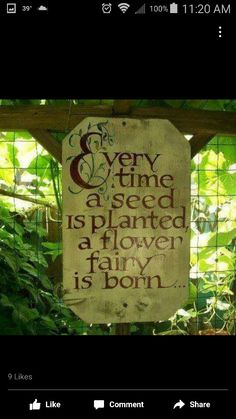 Sign Fairy Garden Houses, Gnome Garden, Fairy Gardens, Garden Crafts, Garden Art, Garden Ideas, Flower Power, Garden Terrarium, Garden Quotes