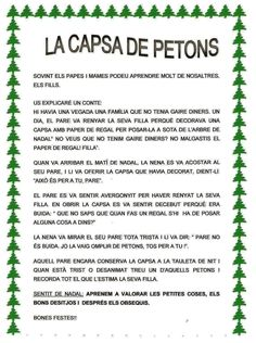CAPSA DELS PETONS. Carta Christmas Projects, Classroom Management, Homeschool, Crafts For Kids, Album, Education, College, Advent, Frases