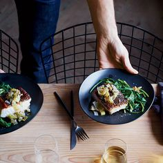 Sea Bass Piccata With Fried Capers and Leeks | Food & Wine