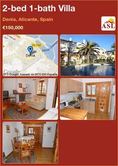 2-bed 1-bath Villa in Denia, Alicante, Spain ►€150,000 #PropertyForSaleInSpain