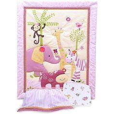 Bedtime Originals by Lambs & Ivy - Lil' Friends 3pc Crib Bedding Set - Value Bundle