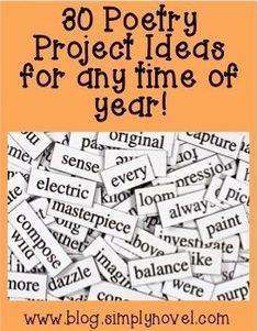 30 fun POETRY project ideas for any classroom! Get your students' creative juices flowing with these fabulous ideas
