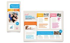 High School Brochure Template Design Pinterest Newsletter - Bi fold brochure template publisher