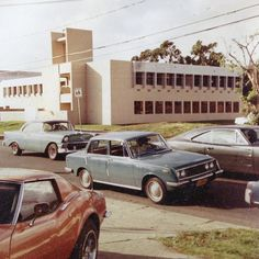 Vintage photo of the PBS Hawaii station! Check out the cars! #ThrowbackThursday