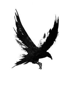 Body Art Tattoos, Tattoo Drawings, New Tattoos, Small Tattoos, Phoenix Tattoos, Crow Art, Raven Art, Bird Art, Crow Tattoo Design