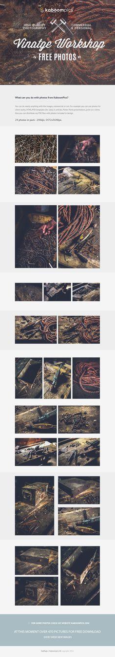 FREE PHOTO PACK - VINTAGE WORKSHOP on Behance