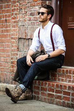 Men Looks with Suspenders