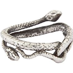 Suzannah Wainhouse Jewelry Snake Ring ($395) ❤ liked on Polyvore featuring jewelry, rings, accessories, bracelets, silver, colorless, clear crystal jewelry, silver jewellery, clear crystal ring and suzannah wainhouse