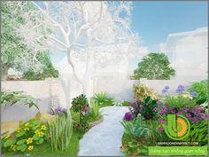 thiết kế thác nước sân vườn đẹp