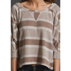 SPLENDID Striped Pullover in Almond at Revolve Clothing - Free... via Polyvore
