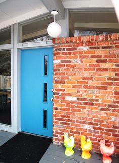 #Mid-Century #door #blue