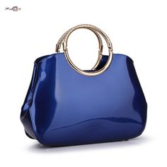 Moccen Fashion Women Tote Top Handle Bags Shell Bag Patent Leather Fashion Bao Bao Brand Bag European And American Style