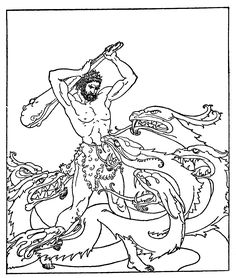Heracles Fighting the Hydra coloring page from The Golden Fleece and the Heroes Who Lived Before Achilles category. Select from 31983 printable crafts of cartoons, nature, animals, Bible and many more. Classical Mythology, Roman Mythology, Greek Mythology, Free Printable Coloring Pages, Free Coloring Pages, Nemean Lion, Printable Crafts, Mamamoo, Background Images