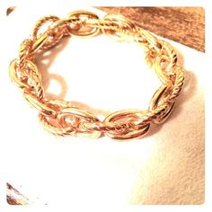 Boutique Gold Bangle Purchased from local boutique (soca). Gold bangle. Stretchy. Worn once. Boutique Jewelry