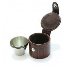 4 Small Cups and Leather Case made by Marlborough World in West #Midlands - £51.95