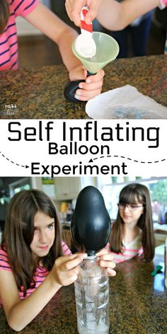 Amaze kids and teach them fun science concepts with this self inflating balloon experiment. #scienceexperiment #kidslearning #remotelearning #kidsactivities Kids Learning Activities, Science Activities, Science Experiments, Learn To Read, Cool Kids, Balloons, Self, Teaching, Education