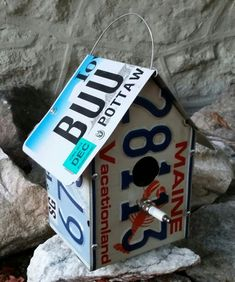 License plate bird house by Traveled Past