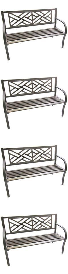 Benches 79678: Steel Bench Seat Outdoor Porch Patio Garden Backyard  Furniture Sturdy  U003e BUY