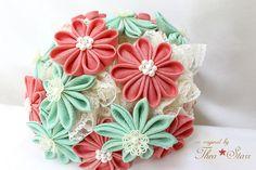 Kanzashi Wedding Bouquet | Flickr - Photo Sharing!