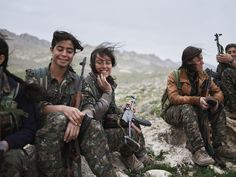 Women of the Shingal Resistance Unit: Berxwedan, Evrim, Amara, and Sinjar Mountain, Iraq /Joey L. - NYC-based Photographer and Director
