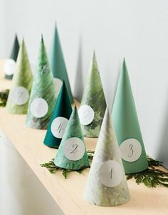Hide-and-peek: Cone trees Our paper forest hides treats for a sweet Christmas countdown. Click on the link below for complete instructions for this project.