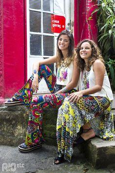 RIOetc | Uma regata cheia de encantos mil  E quando o mix de estampas é fruto da combinação com a amiga? <3
