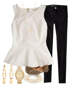 """""""Dinner with my girls"""" by carolinaprep137 on Polyvore featuring American Eagle Outfitters, J.Crew, Jack Rogers, Kate Spade, Dogeared and Michael Kors"""
