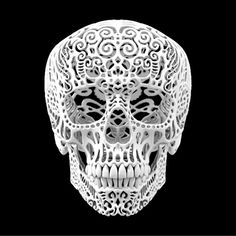 Crania Anatomica Filigre is a beautiful skull sculpture, printed in Polyamide nylon by Joshua Harker. Skull 3d, Skull Face, 3d Printing Technology, 3d Laser, Maquillage Halloween, 3d Prints, Skull And Bones, Art Plastique, Artsy Fartsy