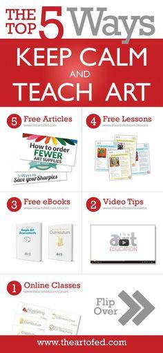 "The ""Top 5 Ways to Keep Calm and Teach Art!"""
