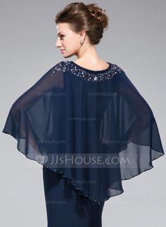 Chal para vestido de fiesta azul