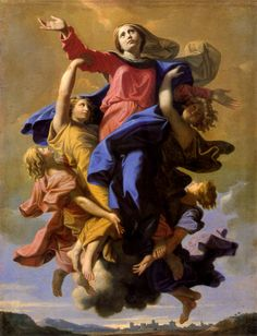 """The Assumption of the Virgin"" by Nicolas Poussin.  Art Experience NYC  www.artexperiencenyc.com/social_login/?utm_source=pinterest_medium=pins_content=pinterest_pins_campaign=pinterest_initial"
