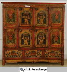 Tibet Furniture Cabinet (Tibetan Painted Cabinet)