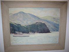 T Paddock Seascape Oil on Canvas Original Frame For Sale ...