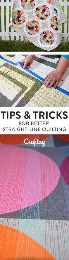 Straight line quilting doesn't have to be intimidating - we can help! @craftsy