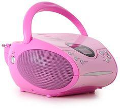 Lenco SCD-24 Portable Radio CD Player - Pink: Amazon.co.uk: Audio & HiFi