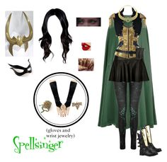 """Spellsinger (as of """"Heritage Project"""") Marvel Inspired Outfits, Disney Themed Outfits, Disney Inspired Fashion, Character Inspired Outfits, Disney Bound Outfits, Lady Loki Cosplay, Loki Costume, Cosplay Outfits, Cosplay Costumes"""
