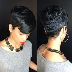 straight-hair-healthy-hair - Fab New Hairstyle 2 Short Sassy Hair, Short Hair Cuts, Short Hair Styles, Pixie Cuts, Pixie Styles, Short Pixie, Curly Pixie, Cute Hairstyles For Short Hair, Straight Hairstyles