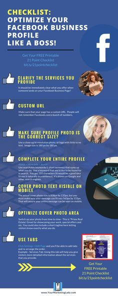 How To Optimize Your Facebook Business Page Like A Boss Infographic