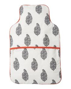 PAISLEY BLOCK PRINT HOT WATER BOTTLE COVER by TOAST