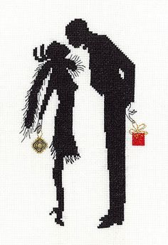 The Gift Cross Stitch Kit by Heather Anne Designs for Classic Embroidery