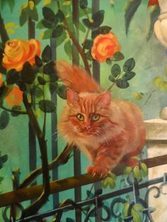 for her Cat painting Limited edition Cat art PRINT of my oil