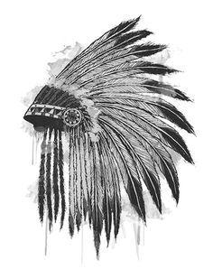 american indian headdress drawing - Google Search