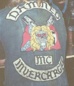 Damned Motorcycle Gang's Colours Invercargil New Zealand